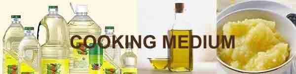Diabetic diet - Cooking medium for diabetics